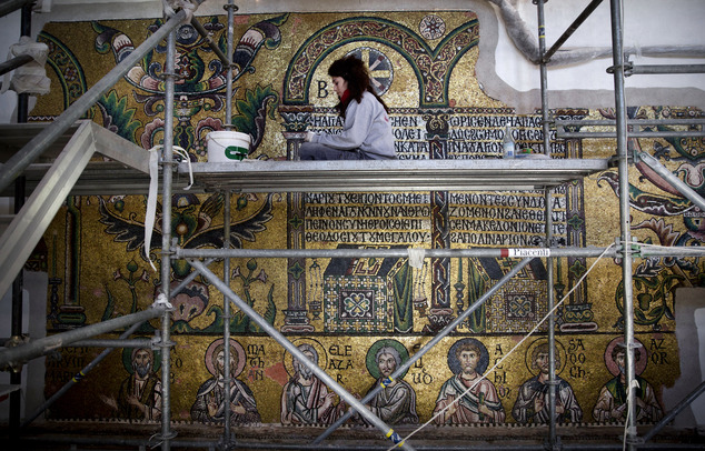 Εργασίες αποκατάστασης εκκλησίας της Γεννέτηρας Ιησού