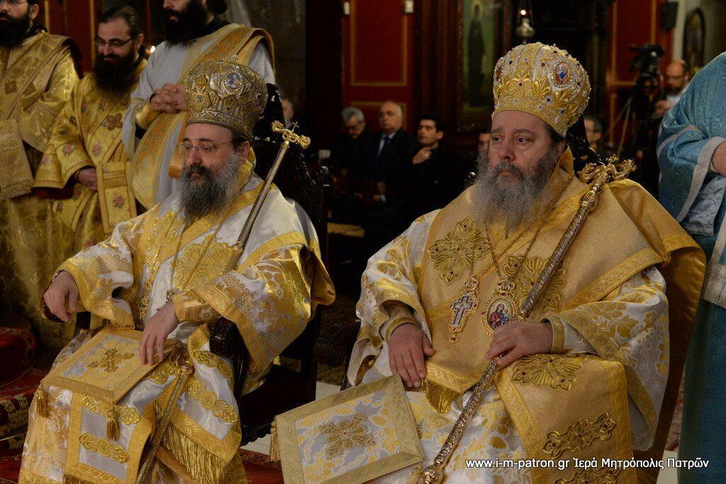 χειροτονία του Σεβασμιωτάτου Μητροπολίτου Πατρών Χρυσοστόμου