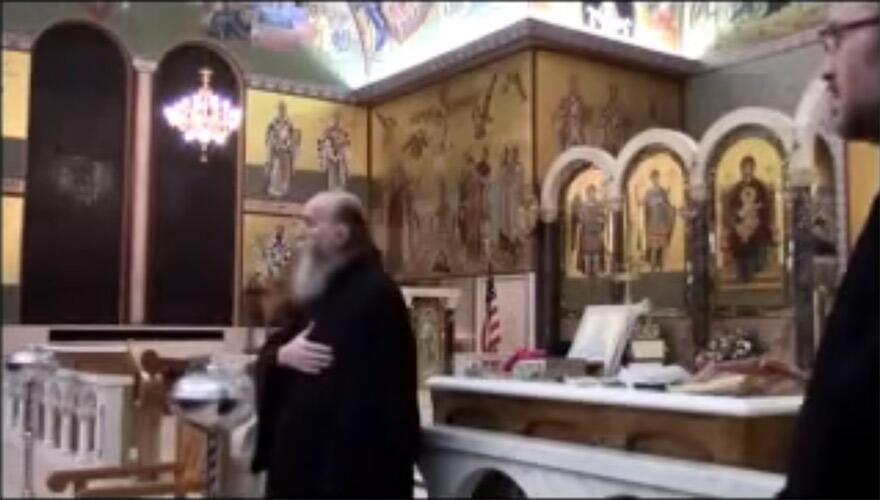 Κήρυγμα του Γέροντα Νεκταρίου στην εκκλησία του Αγίου Δημητρίου στην Νέα Υόρκη