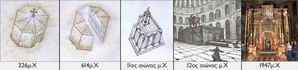 οικοδομικές φάσεις Ιερού Κουβουκλίου