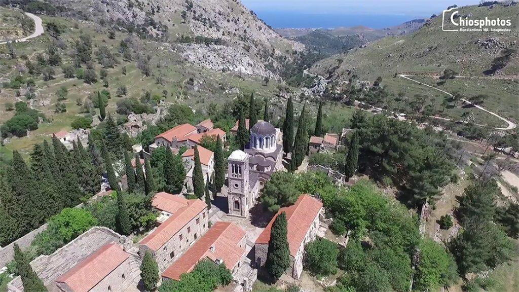 Χίος μοναστήρι νέα μονή πανοραμική