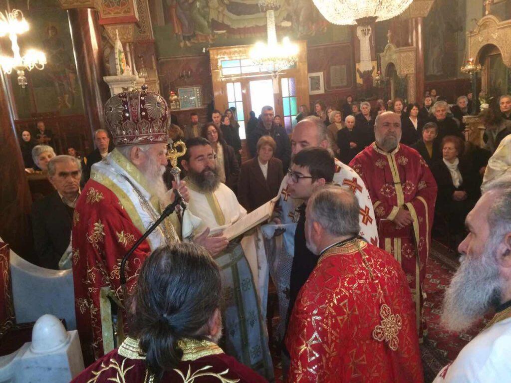 Τελετή Χειροθεσίας νέου Αριστομένη Κωνσταντόπουλου
