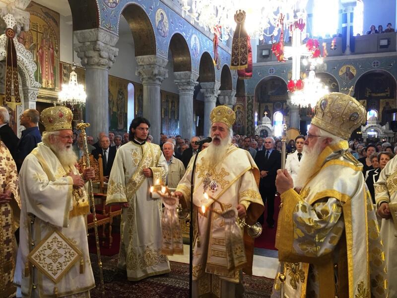 Μεγαλοπρεπής ο Εορτασμός των Αγίων Κωνσταντίνου και Ελένης στο Βόλο