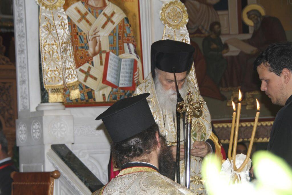 Πανηγυρικός Εσπερινός της Εορτής των Αγίων Κωνσταντίνου & Ελένης στη Γλυφάδα