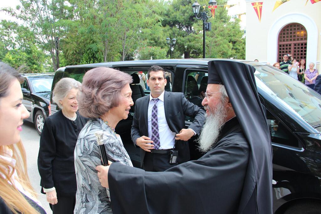 Βασίλισσα Σοφία προσκύνησε Αγία Ελένη