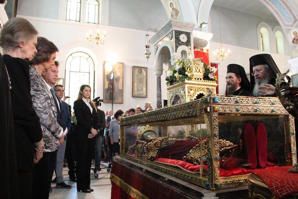 Σοφία της Ισπανίας προσκύνησε Αγία Ελένη