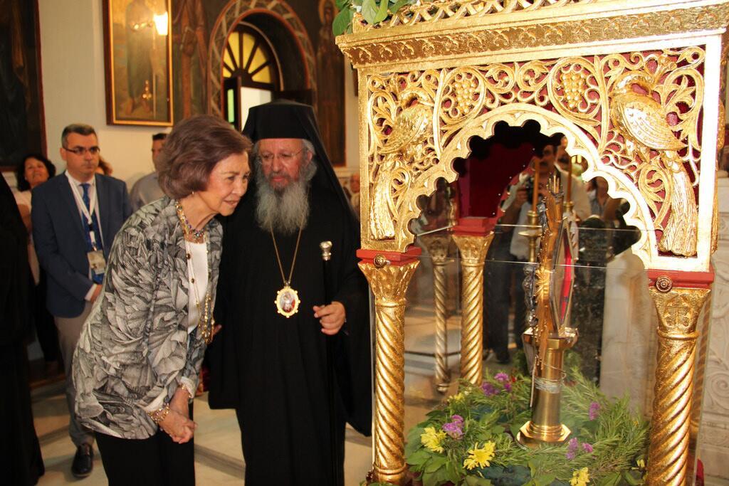 Βασίλισσα Σοφία της Ισπανίας προσκύνησε την Αγία Ελένη