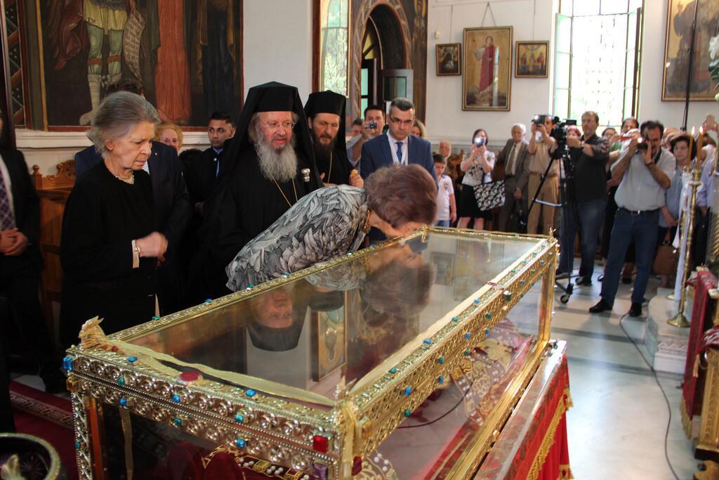 Σοφία Ισπανίας προσκύνησε την Αγία Ελένη