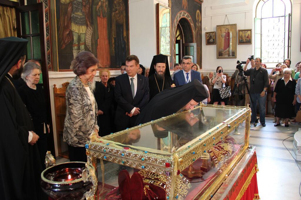 Βασίλισσα Σοφία προσκύνησε την Αγία Ελένη