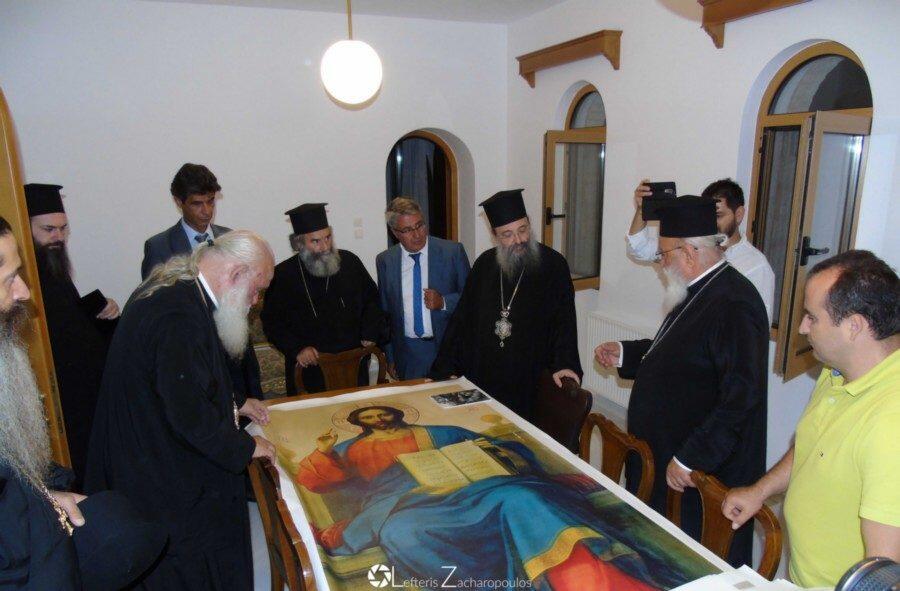 Ο Αρχιεπίσκοπος επισκέφθηκε τον Μητροπολίτη Μαντινείας