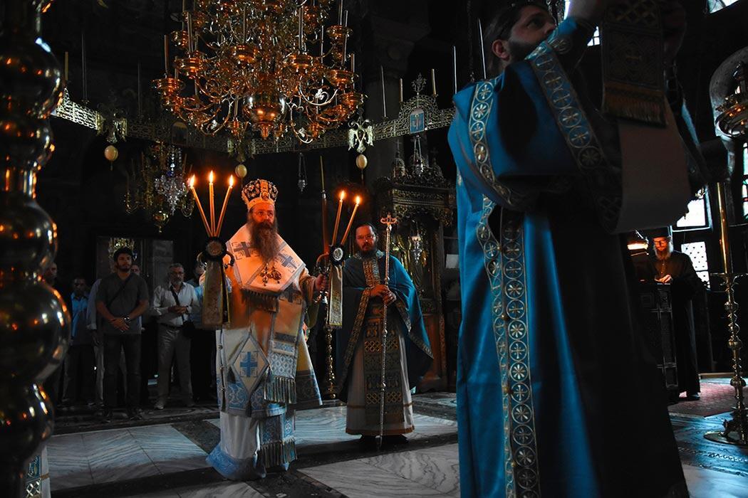 Εικόνα Παναγίας Τριχερούσας Μονή Χιλανδαρίου