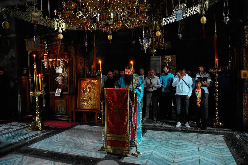 Εικόνα της Παναγίας Τριχερούσας Μονή Χιλανδαρίου