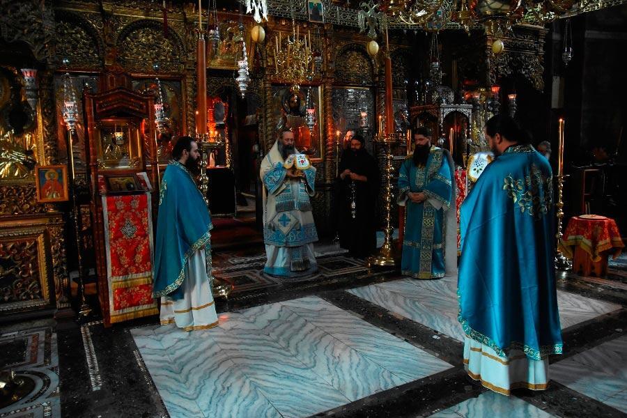 Εικόνα της Παναγίας Τριχερούσας Ιερά Μονή Χιλανδαρίου