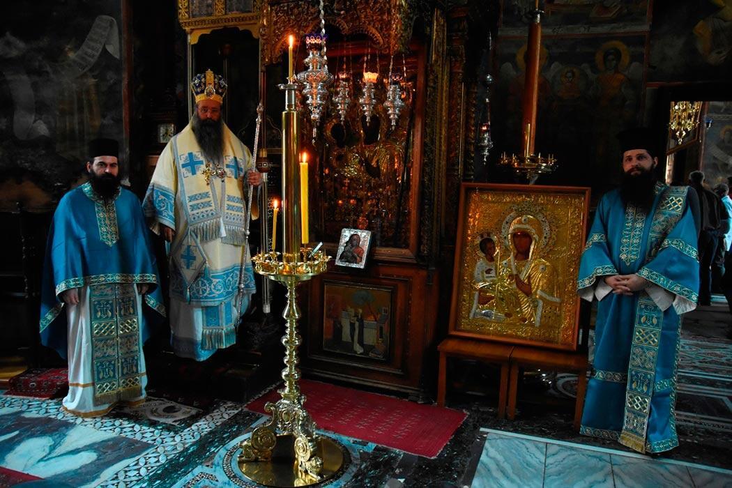 Αντίγραφο της Εικόνας της Παναγίας Τριχερούσας Ιερά Μονή Χιλανδαρίου