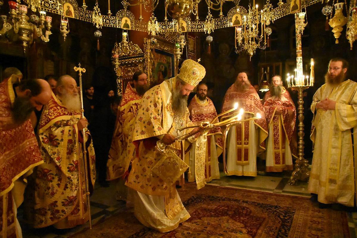 Πανήγυρη Μονής Φιλοθέου Αγίου Όρους Μητροπολίτης Κίτρους