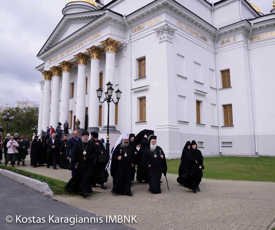 Ο Μητροπολίτης Βεροίας στο Αρχιερατικό συλλείτουργο στην Ιερά Μονή Νοβοτιχβινσκι Αικατερίνμπουργκ