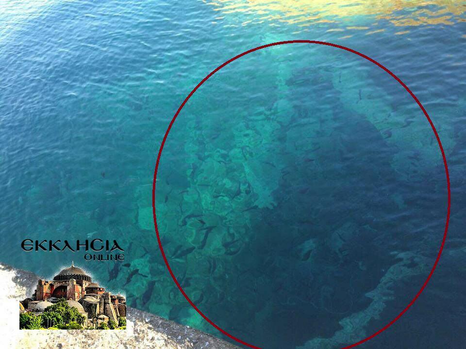 Άγιο Όρος Εμφάνιση Μοναχού στη θάλασσα
