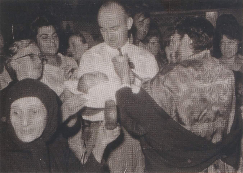 Η Αγία Σοφία της Κλεισούρας διακονεί σε βάπτιση