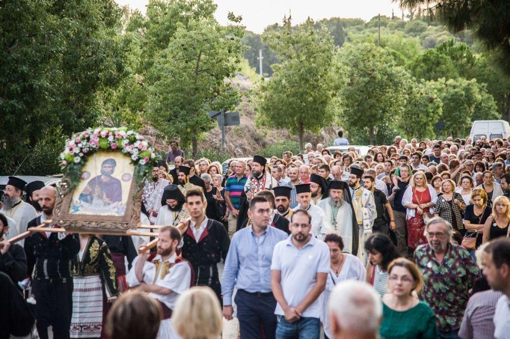 Μητρόπολη Νέας Ιωνίας: Χιλιάδες πιστοί στη Λιτάνευση της Ιεράς Εικόνας Αγ. Ευσταθίου