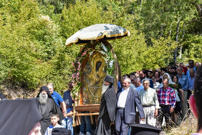 Ο Μητροπολίτης Λαγκαδά Ιωάννης στη Μονή Θεοσκεπάστου για την Εορτή του Γενέσιου της Θεοτόκου