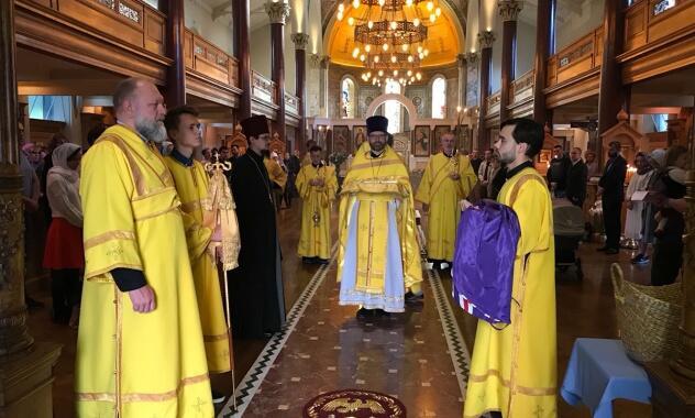 Ο Μητροπολίτης Ιλαρίωνας προέστη της Θείας Λειτουργίας του Αγίου Σιλουανού του Αθωνίτη