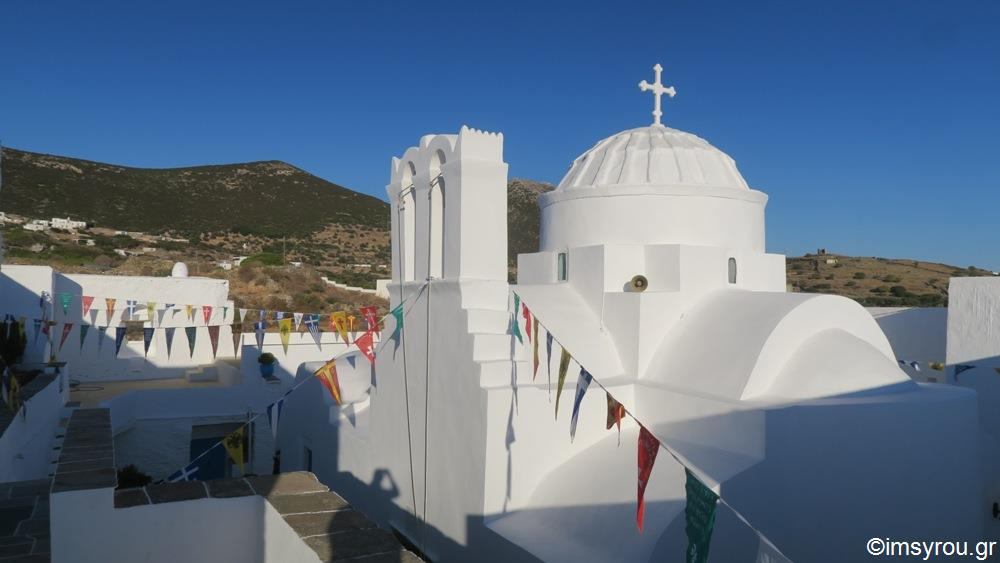 Μητρόπολη Σύρου: Στο Καθολικό της Ιεράς Μονής Παναγίας Βρύσης ο Σεβασμιώτατος κ. Δωρόθεος