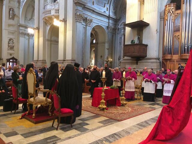Ο Οικουμενικός Πατριάρχης στον Καθεδρικό του Αγίου Πέτρου στην Μπολόνια