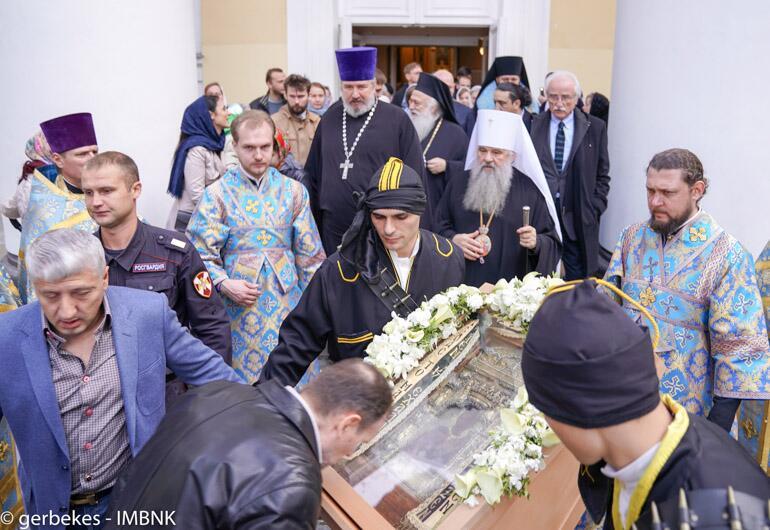 Μητρόπολη Βεροίας: Αναχώρησε η Εικόνα της Παναγίας Σουμελά από την Αγία Πετρούπολη