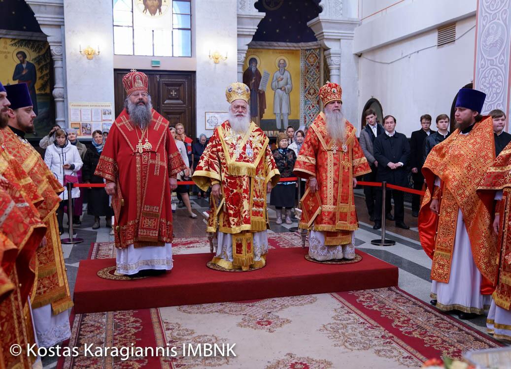 Ενώπιον των λειψάνων του Αγίου Δημητρίου η Θεία Λειτουργία στο Αικατερίνμπουργκ