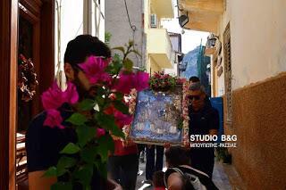 Μητρόπολη Αργολίδος: Η λιτάνευση της Ιερής Εικόνας της Αγίας Σοφίας