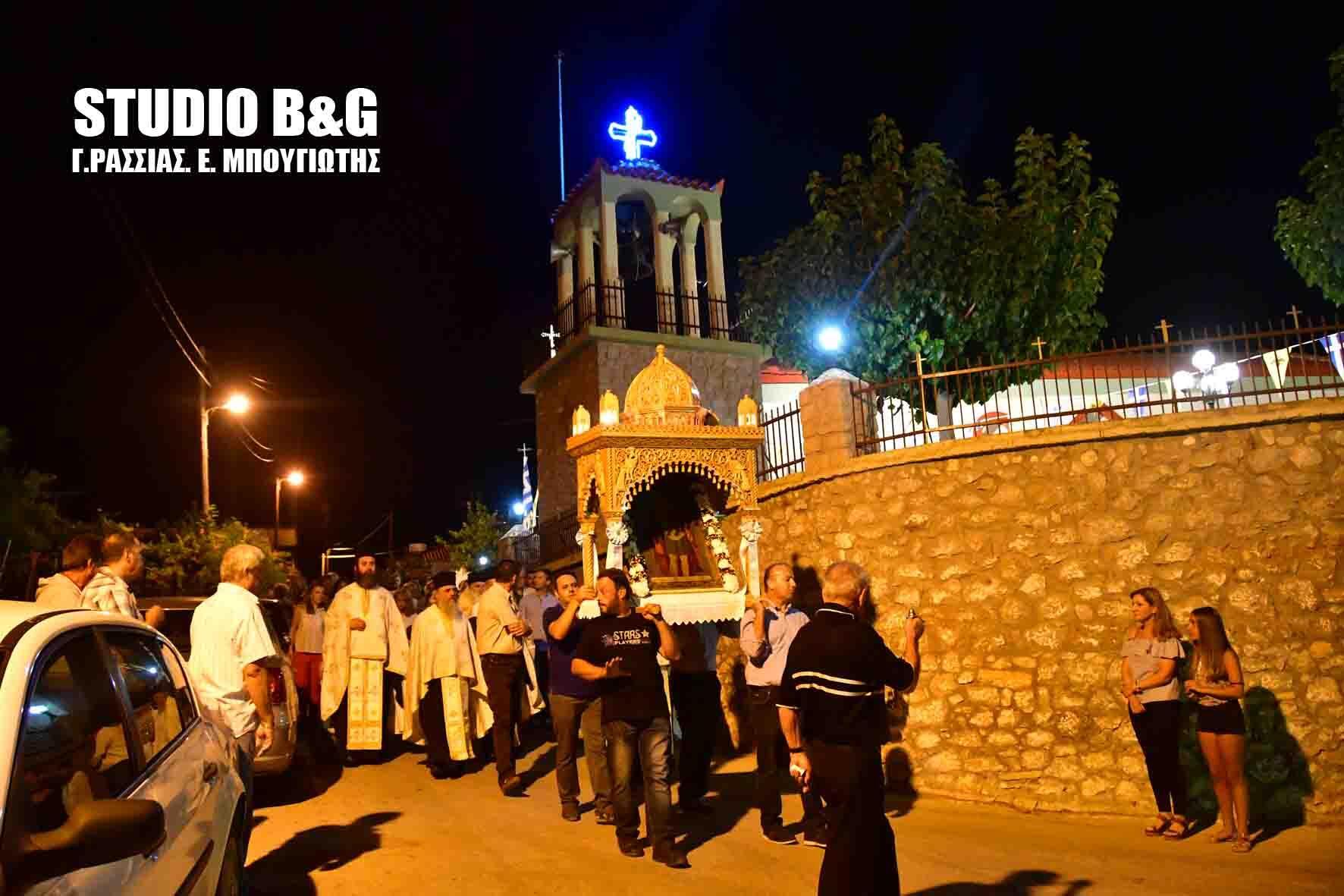 Μητρόπολη Αργολίδος: Εσπερινός του Αγίου Σώζοντος στο Τσέλο