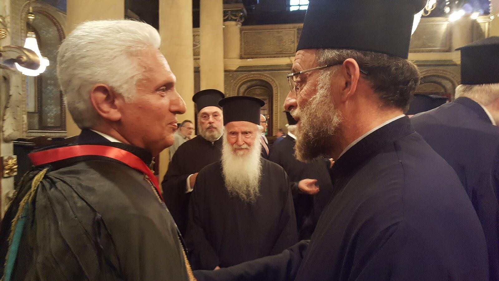 Οικουμενικό Πατριαρχείο: Το οφφίκιο του Άρχοντος Νομοφύλακα απένειμε ο Πατριάρχης στον Γεώργιο Βλατάκη