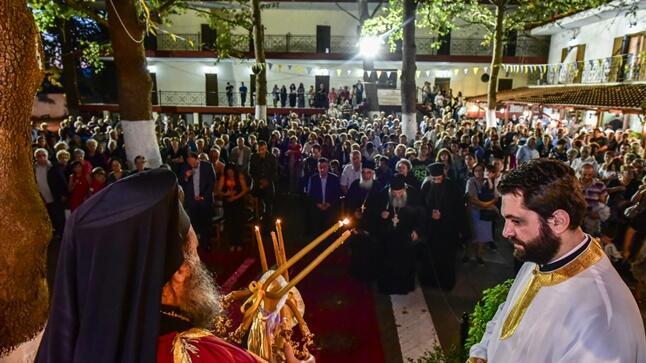 Μητρόπολη Λαγκαδά: Ο Πανηγυρικός Αρχιερατικός Εσπερινός για την εορτή του Γενέσιου της Υπεραγίας Θεοτόκου