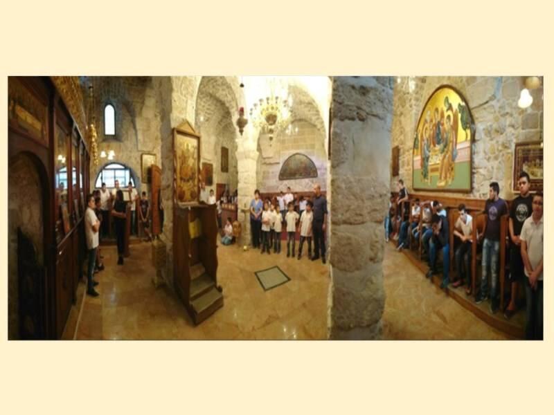 Πατριαρχείο Ιεροσολύμων: Εκκλησιασμός των μαθητών του Αγίου Δημητρίου
