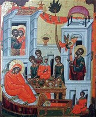 Η Γέννηση της Υπεραγίας Θεοτόκου 8 Σεπτεμβρίου: Ερμηνεία της Εικόνας