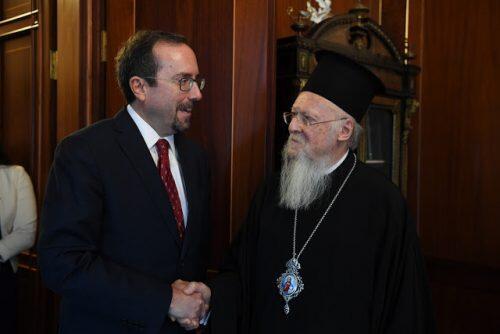 Συνάντηση Οικουμενικού Πατριάρχη με Πρέσβυ των ΗΠΑ
