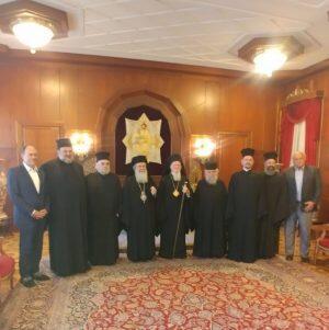 Η επίσκεψη Ιεροσολύμων Θεόφιλου στον Οικουμενικό Πατριάρχη