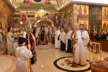 Ο Αμερικής Δημήτριος στον Αρχιερατικό Εσπερινό Αγίου Δημητρίου Τζαμέικας