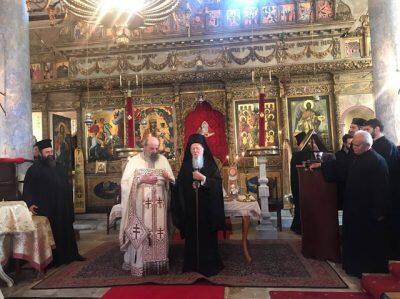 Νιχώρι: Θεία Λειτουργία παρουσία Οικουμενικού Πατριάρχη
