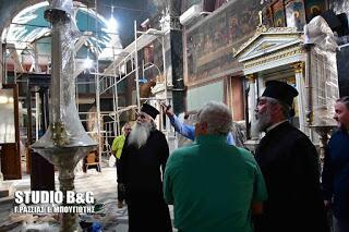 Ναύπλιο: Σε καλή πορεία τα έργα συντήρησης του Ναού του Αγίου Σπυρίδωνα
