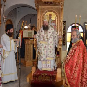 Μητρόπολη Μεγάρων: Θεία Λειτουργία στην Παναγία Καματερού Σαλαμίνος