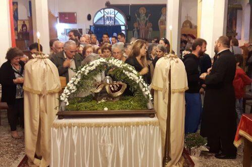 Πλήθος κόσμου υποδέχθηκε την Τίμια Κάρα της Αγίας Μαρίνας στην Εύβοια