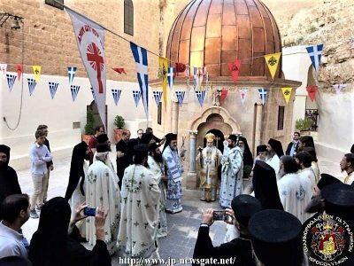 Ιεροσόλυμα: Εορτή Επανακομιδής Λειψάνου Οσίου Σάββα Ηγιασμένου
