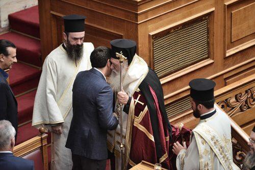 Αγιασμός στη Βουλή από τον Αρχιεπίσκοπο Ιερώνυμο
