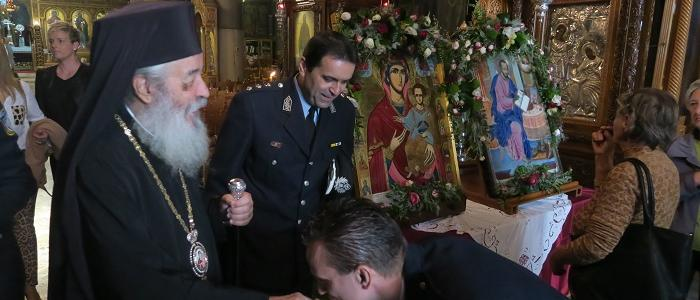 Τον Προστάτης της Άγιο Αρτέμιο τίμησε η Ελληνική Αστυνομία στη Λαμία