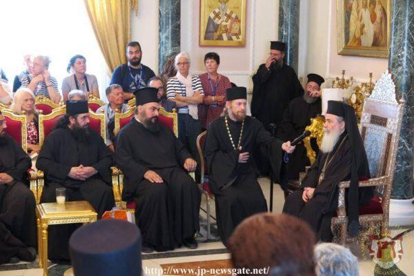 Προσκυνητές από Κρήτη, Ρωσία και Σερβία δέχθηκε ο Ιεροσολύμων Θεόφιλος