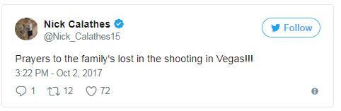 Η προσευχή του Νικ Καλάθη για τα θύματα στο Λας Βέγκας