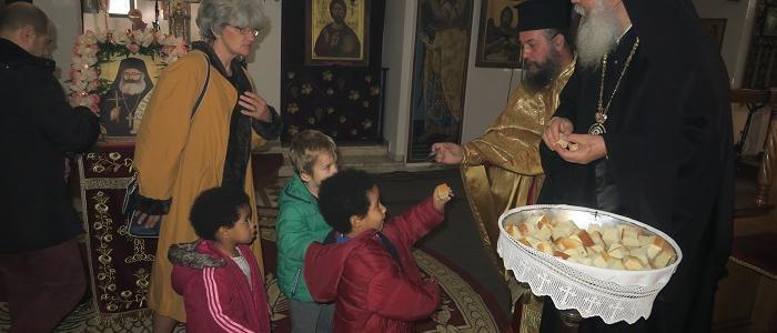 Με λαμπρότητα τίμησε τη μνήμη του Αγίου Ιερομάρτυρος Φιλουμένου η Ενορία του Αγίου Νεκταρίου