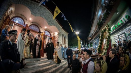 Πλήθος κόσμου στο Μεθέορτο Εσπερινό και Λιτάνευση Ιεράς Εικόνος Αγ. Νεκταρίου στο Ηράκλειο Αττικής