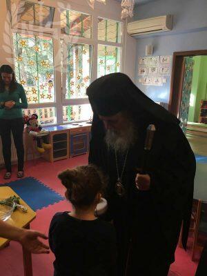 Αγιασμό τέλεσε ο Νεαπόλεως Βαρνάβας στον παιδικό σταθμό «Αναπνοή»